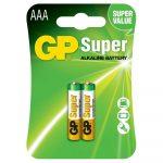 Baterías AAA Super Alkalina 1.5V 2 Piezas Marca GP