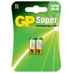 Batería N Super Alkalina 1.5V  Cartón 2 piezas Marca GP