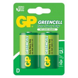 Batería D Greencell Carbon 1.5V Carton 2 piezas Marca GP