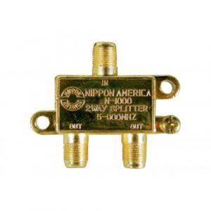 Splitter N.A. 2 Vias Gold C/ Tornillos