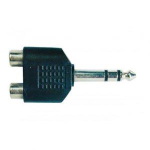 """Plug N.A. RCA 2 hembras a 1/4"""" mono"""