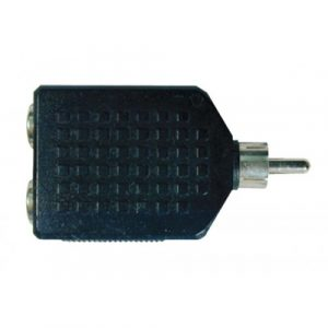 Plug N.A. RCA Hembra Doble De 3.5mm.