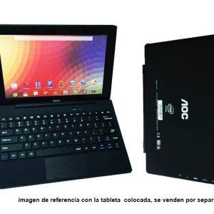Teclado alámbrico  AOC U107 para tablet MID10-AOC-U107 con iman y puerto USB color negro