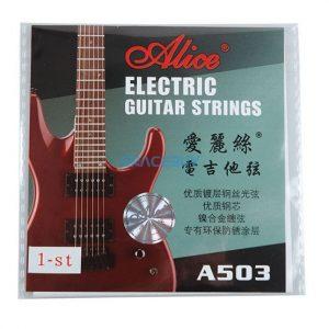 Set de Cuerdas para Guitarra Eléctrica Niqueladas marca Alice