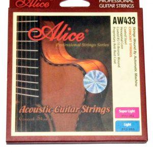 Set de Cuerdas para Guitarra Acustica de Bronce marca Alice