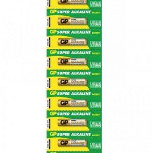 Bateria GP Super Alkalina AAA 1.5V Tira 10 piezas
