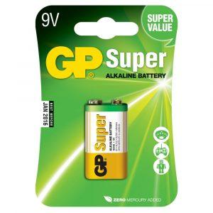 Batería 9V Super Alkalina Marca GP