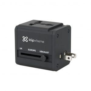 Adaptador de Corriente Europeo, Americano, Asiatico e Inglés a USB marca Klip Xtreme