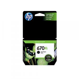 Cartucho HP 670XL Negro Alto Rendimiento