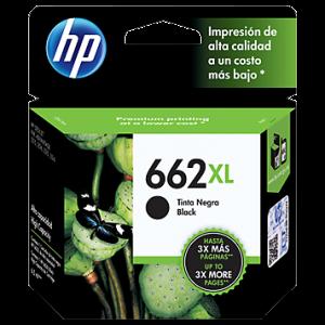 Cartucho HP 662XL  alto rendimiento negro