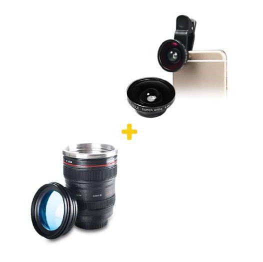 Combo Taza en forma de lente+ Lente Ultra Wide