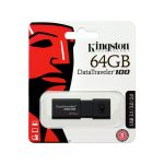 Memoria USB de 64GB DataTraveler 100 G3 marca Kingston color Negro