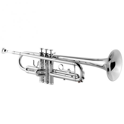 Trompeta Vivaldi Niquelada con Boquilla y Estuche