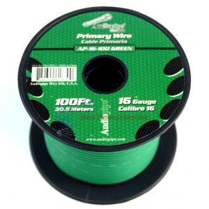 Cable audiopipe primario cal. 16 verde 100'