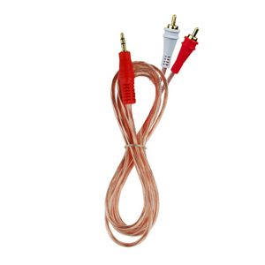 Cable audiopipe 3.5 a 2 rca  en bolsa 6'