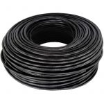 Cable N.A. coaxial, 25` negro