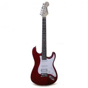 Guitarra Eléctrica Hendrix Color Color Rojo Intenso Tipo TC con Estuche