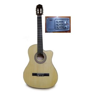 Guitarra electroacústica Valenciana natural con estuche