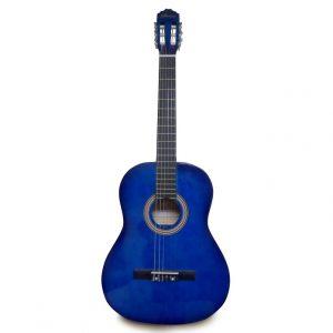 Guitarra clássica Valenciana 39» azul negro con estuche
