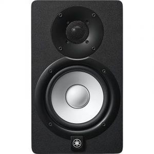 Monitor Yamaha negro de estudio de 2 vías con woofer de 5''