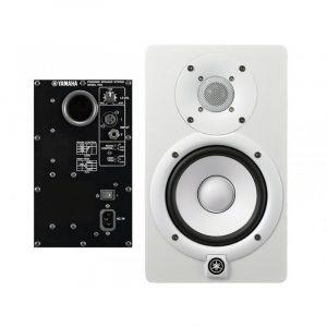 Monitor Yamaha blanco de estudio 2 vías con woofer de 5''