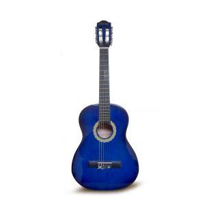 "Guitarra Acústica de 30"" para niño marca Valenciana color Azul con Negro (Con Funda)"