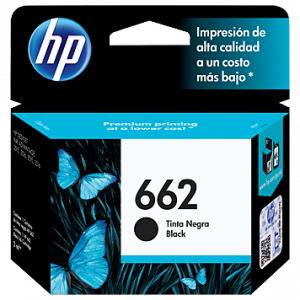 Cartucho original Hp 662 negro