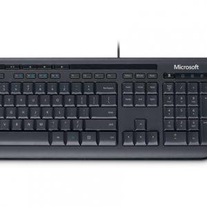 Combo teclado y mouse USB  Microsoft 600 en español color negro