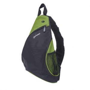 "Mochila para Laptop Marca Manhattan de 12"" Color Verde/Negro"