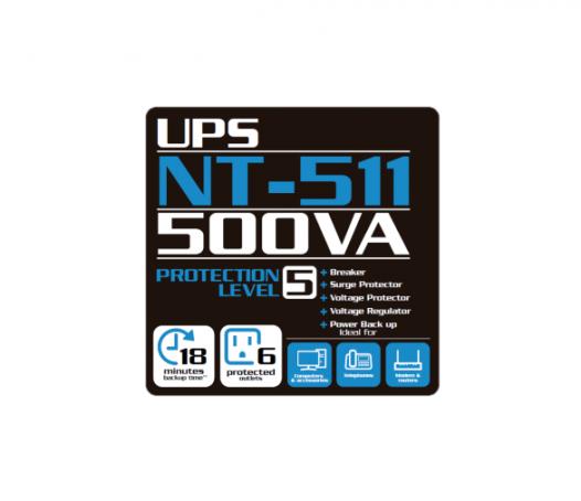 UPS Forza 500VA NT-511 Interactivo de 6 Tomas