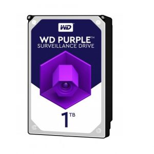 Disco Duro Interno para Vigilancia Western Digital 1TB Purple Surveillance 3.5""