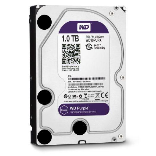 """Disco Duro Interno para Vigilancia Western Digital 1TB Purple Surveillance 3.5"""""""