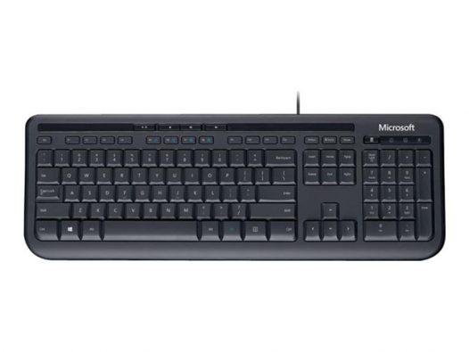 Teclado Alámbrico Microsoft 600 en Inglés Color Negro