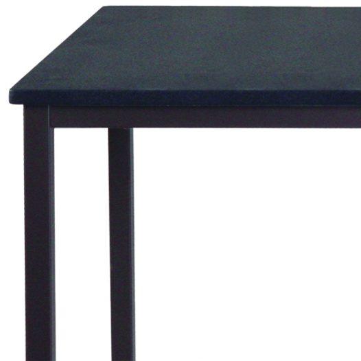 Escritorio para Computadora de un nivel con marco de acero Color Negro con Café XTF-CD457