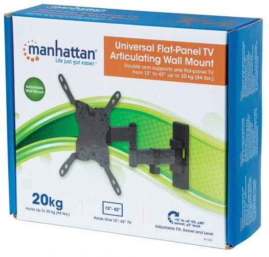 "Soporte para Televisión de 13"" a 42"" con Inclinación de 12 grados marca Manhattan 461405"