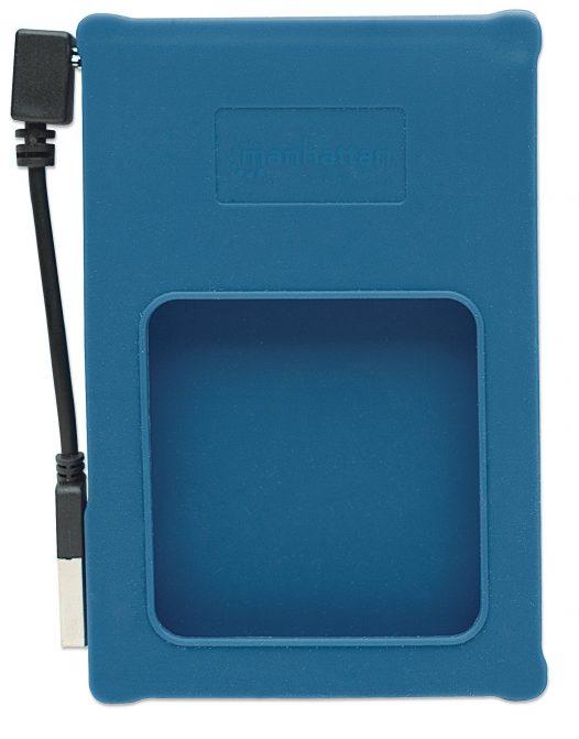 """Gabinete para Disco Duro de Laptop SATA 2.5"""" Silicon Color Azul"""