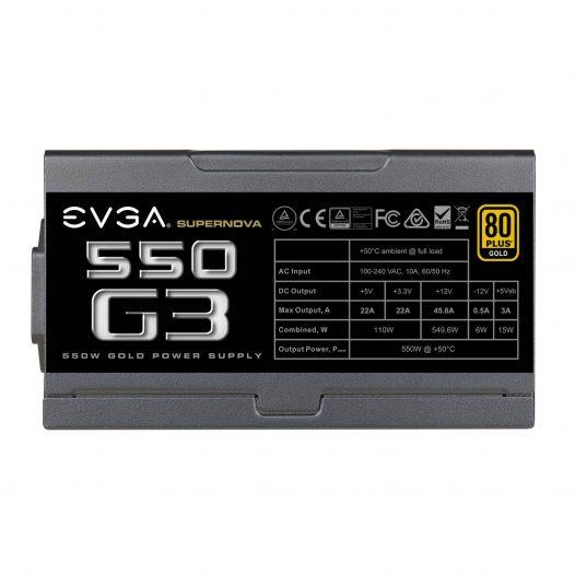 Fuente de Poder EVGA Super Nova Modular 550W G3 80 Plus Oro