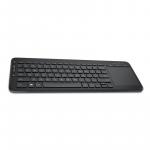 Teclado USB Inalámbrico Microsoft con Trackpad Multitactil color negro