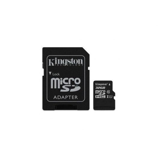 Memoria MicroSD Kingston Canvas Select 32GB Con Adaptador Clase 10 Para Android