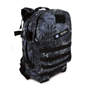 "Mochila para Laptop Marca Molvu M03 40L de 15.6"" Color Camuflaje Azul"