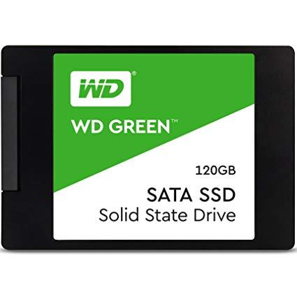 Unidad de Estado Solido de 120GB marca Western Digital Green SSD