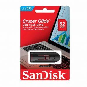 Memoria USB SanDisk Cruzer Glide 32GB Color Negro