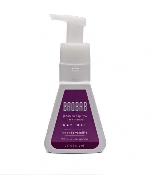 Jabón en Espuma para Manos de Lavanda Vainilla marca Baobab