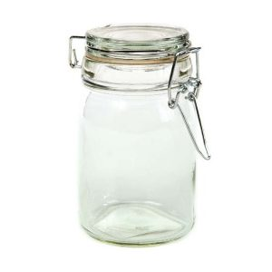 Unidad de especiero de vidrio 4 Onzas Marca Home Decor