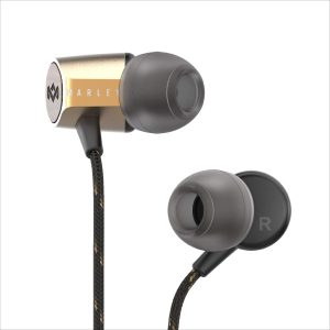 Audifonos Uplift 2 marca House of Marley color Negro con Dorado