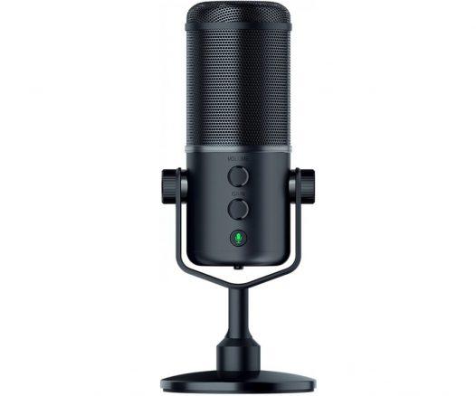 Micrófono para Streamers Seiren Elite marca Razer color Negro USB