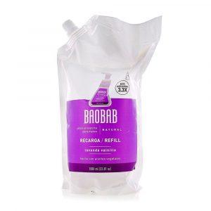 Refill de Jabón en Espuma para Manos de Lavanda Vainilla marca Baobab