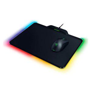 Combo Gaming Mouse Mamba y Mousepad Firfly marca Razer con Carga Inalambrica