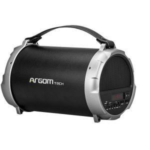 Bocina Bluetooth Argom Bazooka Beats Color Plateado/Negro