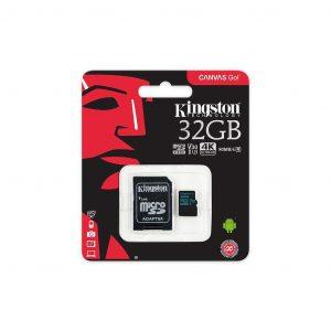 Memoria MicroSD Kingston de 32GB Con Adaptador Clase 10 Para Android